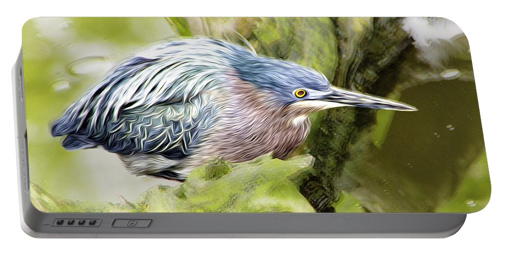 Bird Portable Battery Charger featuring the photograph Bird Whirl2 by James Ekstrom