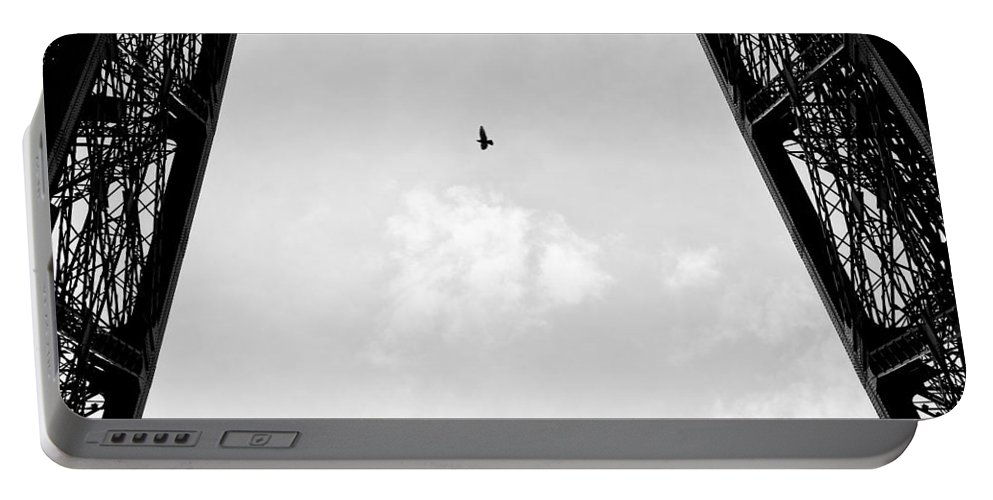 Eiffel Tower Portable Battery Charger featuring the photograph Birds-eye View by Dave Bowman