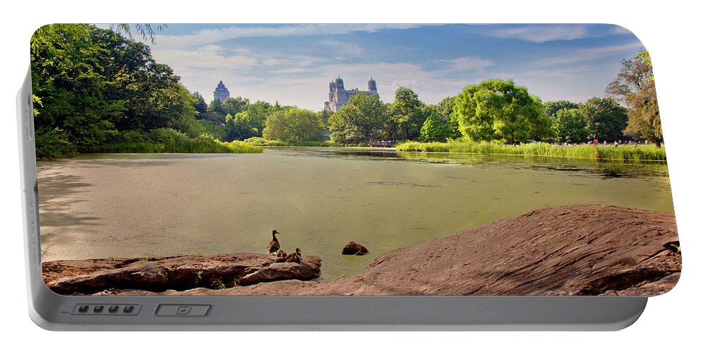 Duck Portable Battery Charger featuring the photograph Birds Eye View by Madeline Ellis