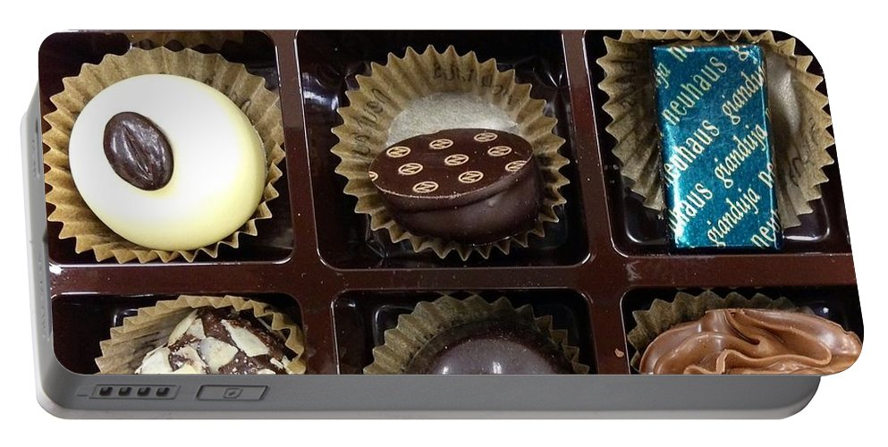 Union Station Portable Battery Charger featuring the photograph Birthday Chocolates by Lois Ivancin Tavaf