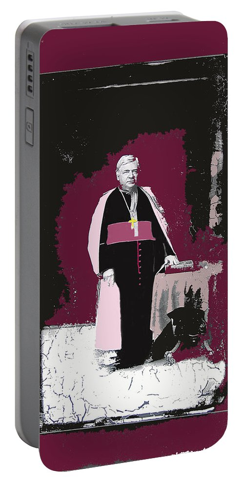 Bishop Jean-baptiste Salpointe Tucson Arizona Henry Buehman Portable Battery Charger featuring the photograph Bishop Jean Baptiste Salpointe C.1885 Tucson Arizona C.1885-2008 by David Lee Guss