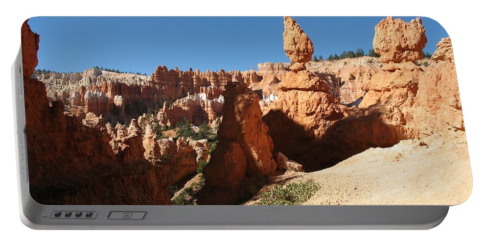 Canyon Portable Battery Charger featuring the photograph Bizarre Shapes - Bryce Canyon by Christiane Schulze Art And Photography