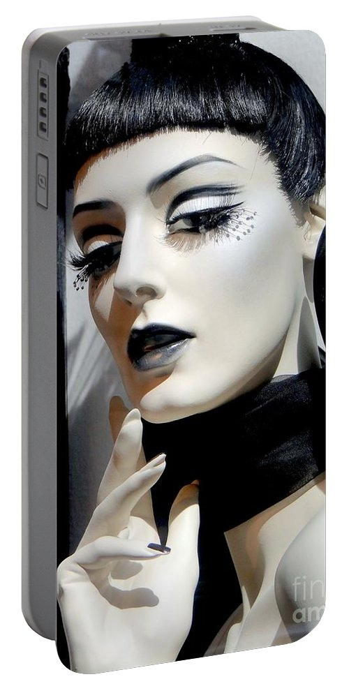 Mannequins Portable Battery Charger featuring the photograph Black And White Beauty by Ed Weidman