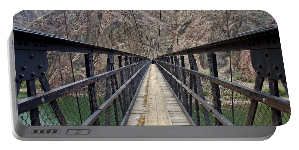 Colorado River Portable Battery Charger featuring the photograph Black Bridge by Brian Kamprath