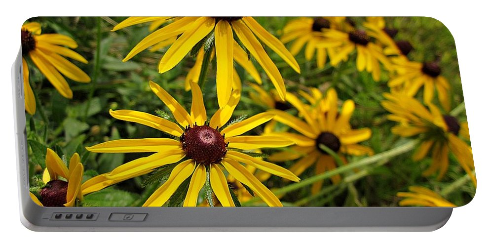 Rudbeckia Portable Battery Charger featuring the photograph Black-eyed Susans by MTBobbins Photography