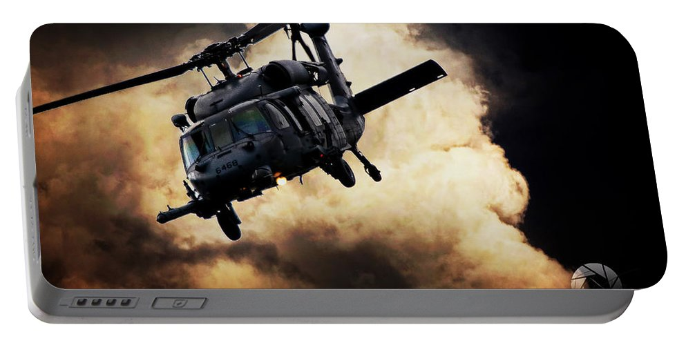Sikorsky Uh-60 Black Hawk Portable Battery Charger featuring the photograph Black Hawk Attack by Paul Job
