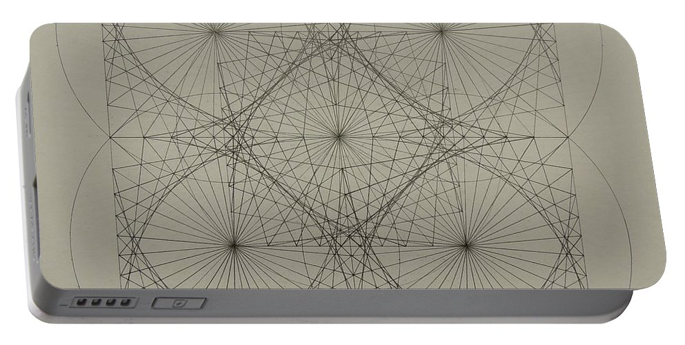 Fractals Portable Battery Charger featuring the drawing Blackhole by Jason Padgett