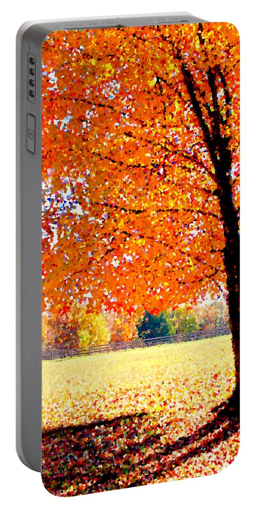Tree Portable Battery Charger featuring the photograph Blazing Tree by Tina Meador