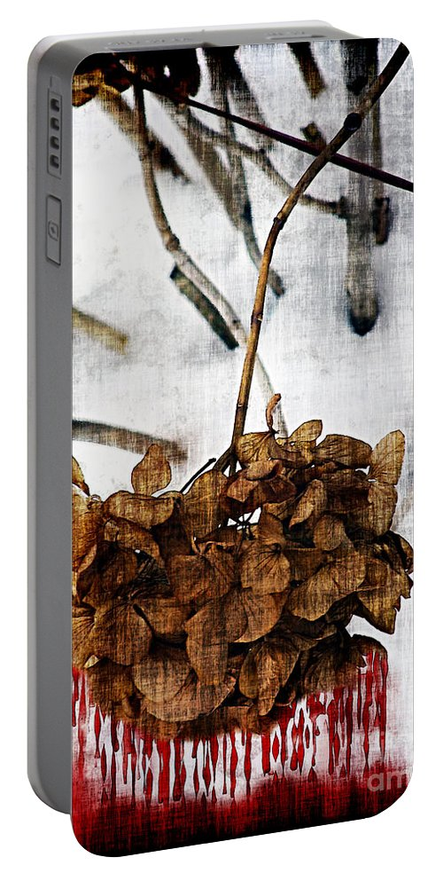 Bleeding Portable Battery Charger featuring the painting Bleedout In The Snow by RC DeWinter