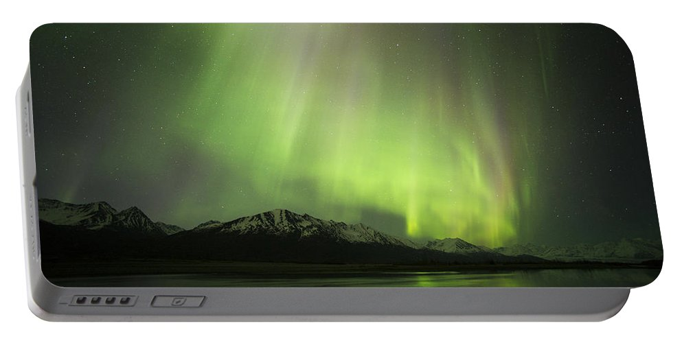 Aurora Portable Battery Charger featuring the photograph Blended by Ted Raynor