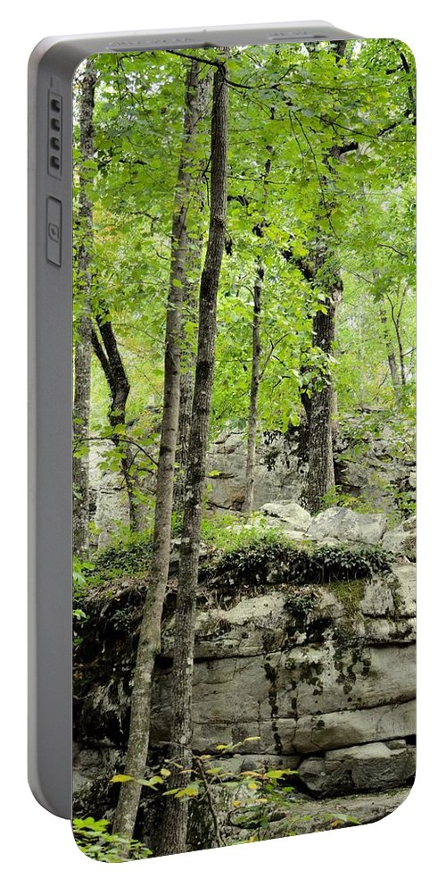 Blissfully Peaceful Portable Battery Charger featuring the photograph Blissfully Peaceful by Maria Urso