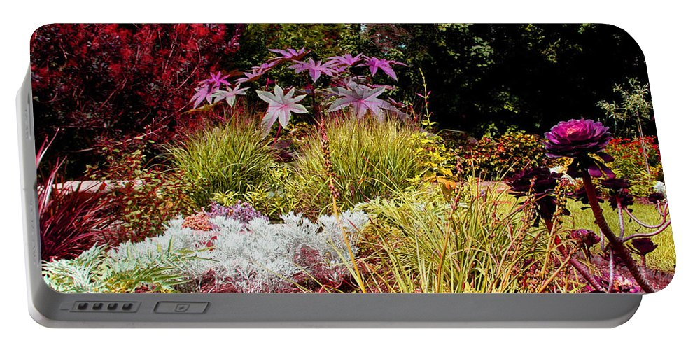 Flowers Portable Battery Charger featuring the photograph Blithewold Gardens Bristol Rhode Island by Tom Prendergast