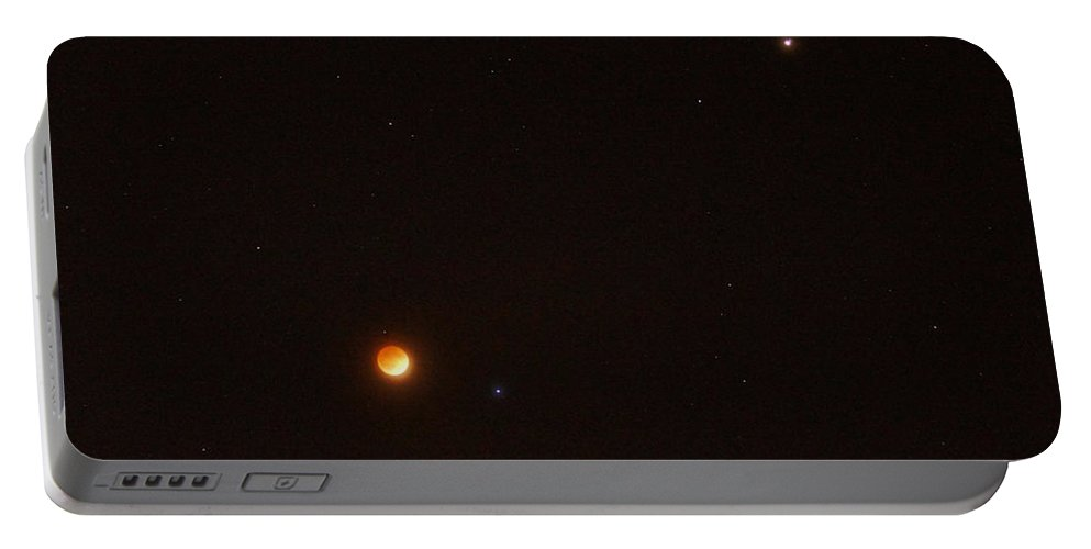 Blood Moon Portable Battery Charger featuring the photograph Blood Moon And Stars by Mick Anderson