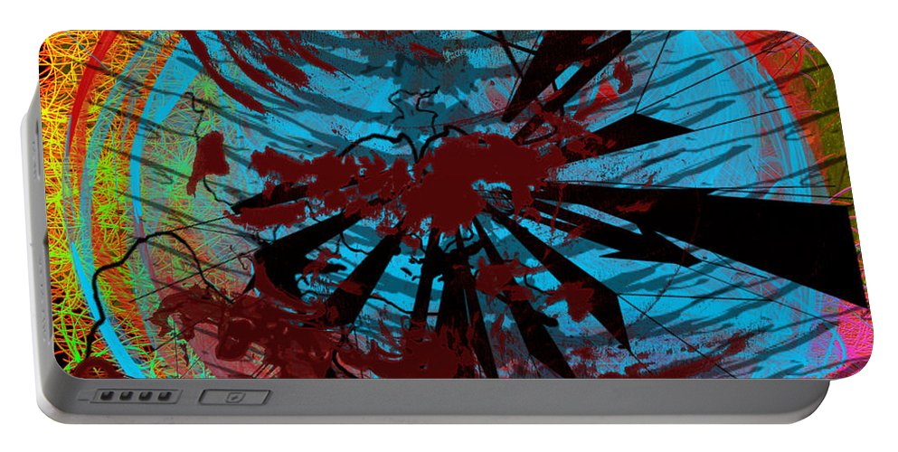 Clay Portable Battery Charger featuring the digital art Bloody Mess by Clayton Bruster