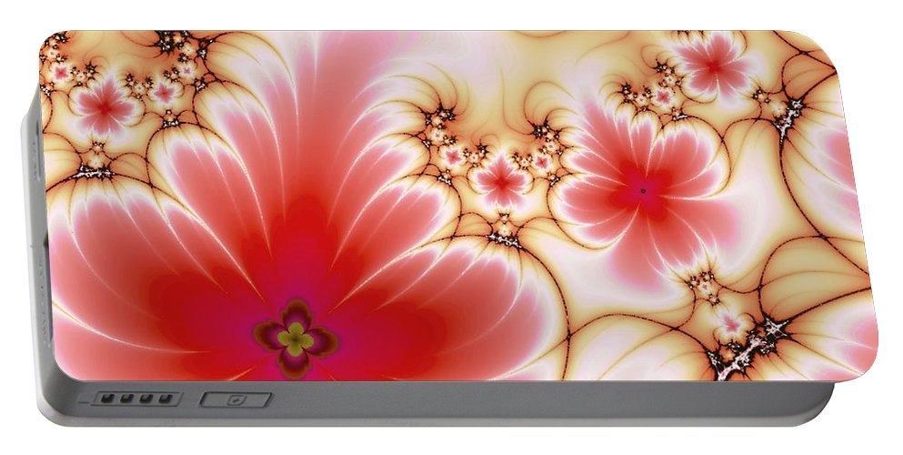 Plant Portable Battery Charger featuring the digital art Blooming by Anastasiya Malakhova