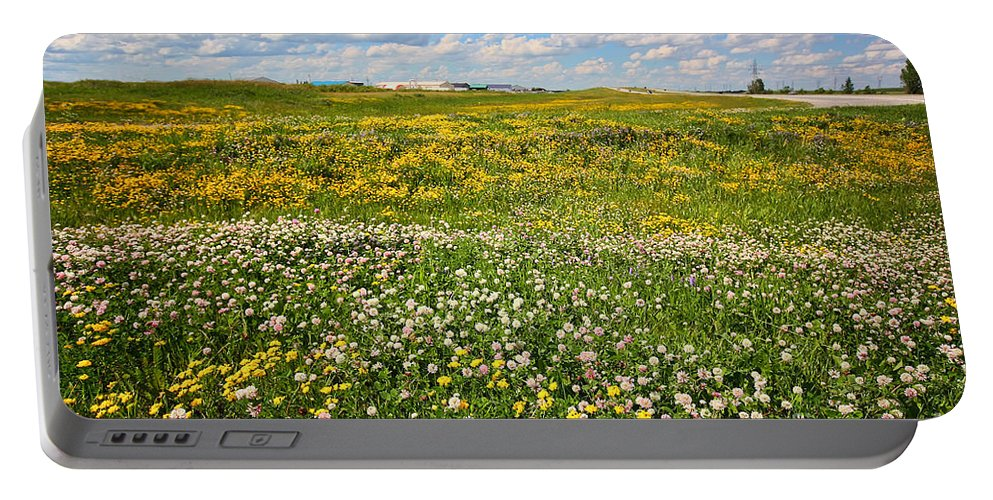 Wildflowers Portable Battery Charger featuring the photograph Blooming Fields by Teresa Zieba