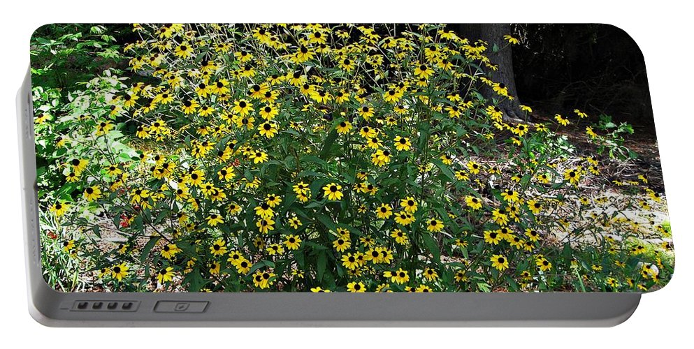 Rudbeckia Portable Battery Charger featuring the photograph Blooming Rudbeckia Bush by MTBobbins Photography