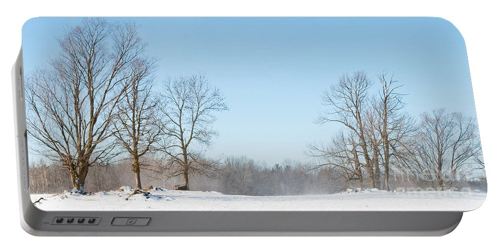 Landscapes Portable Battery Charger featuring the photograph Blowing Snow by Cheryl Baxter