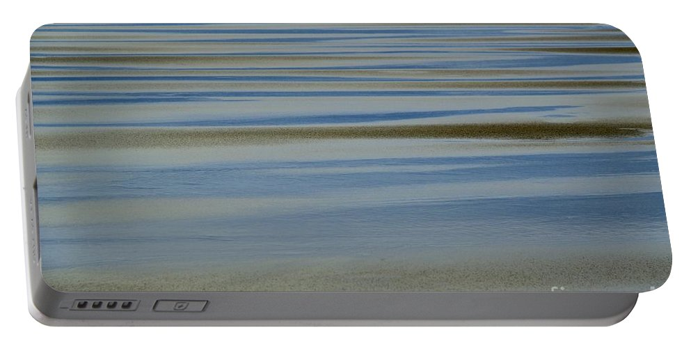 Blue And Gold Portable Battery Charger featuring the photograph Blue And Gold by Wendy Wilton