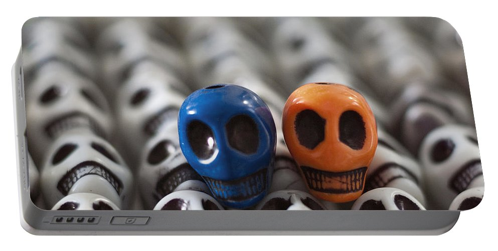 Smiles Portable Battery Charger featuring the photograph Blue And Orange by Mike Herdering