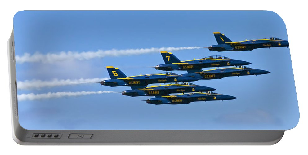 Blue Angels Portable Battery Charger featuring the photograph Blue Angels IIII by Greg Reed