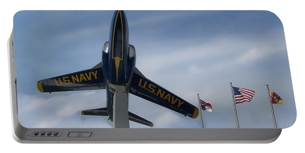 Victor Montgomery Portable Battery Charger featuring the photograph Blue Angels Tribute by Victor Montgomery