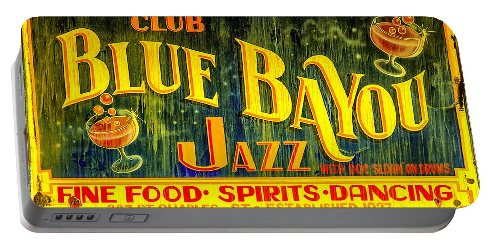 Blue Bayou Portable Battery Charger featuring the photograph Blue Bayou by Diana Powell