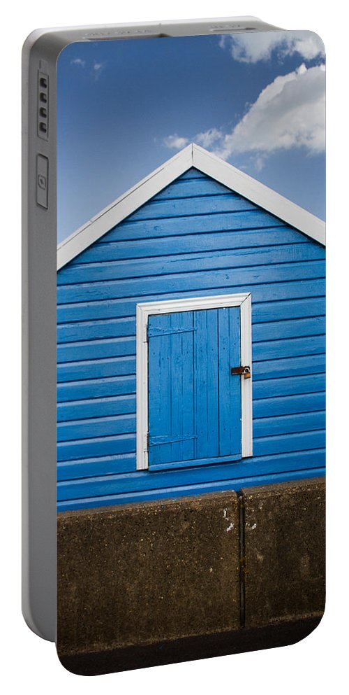 Beach Hut Portable Battery Charger featuring the photograph Blue Beach Hut by Dayne Reast