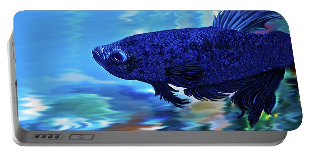 Fine Art Photography Portable Battery Charger featuring the painting Blue Boy by Patricia Griffin Brett