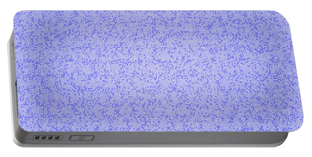 Blue Portable Battery Charger featuring the digital art Blue Design by Lee Serenethos