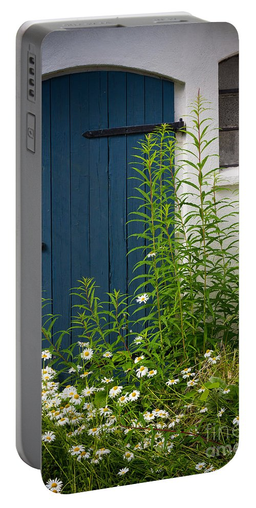 Europe Portable Battery Charger featuring the photograph Blue Door by Inge Johnsson