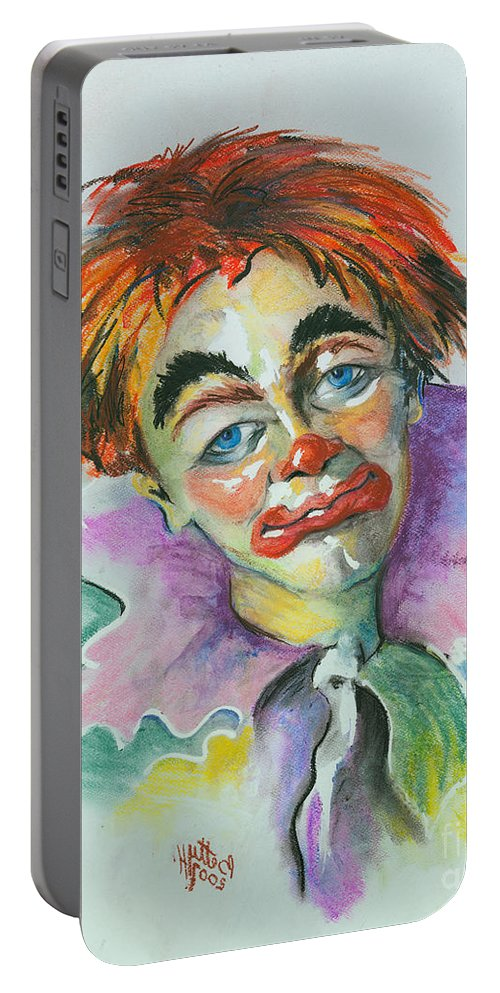 Canvas Print Portable Battery Charger featuring the painting Blue Eyes by Elisabeta Hermann