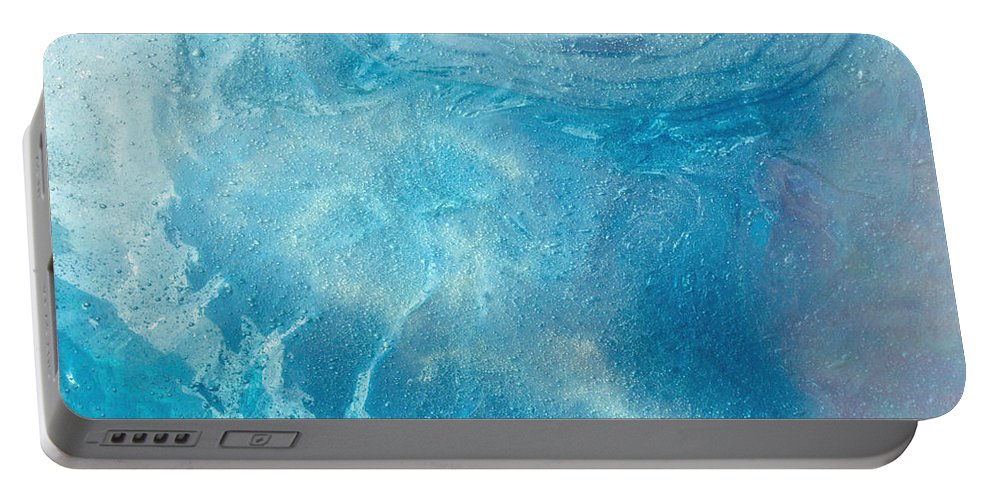 Ice Portable Battery Charger featuring the photograph Blue Glacier Ice by Tikvah's Hope