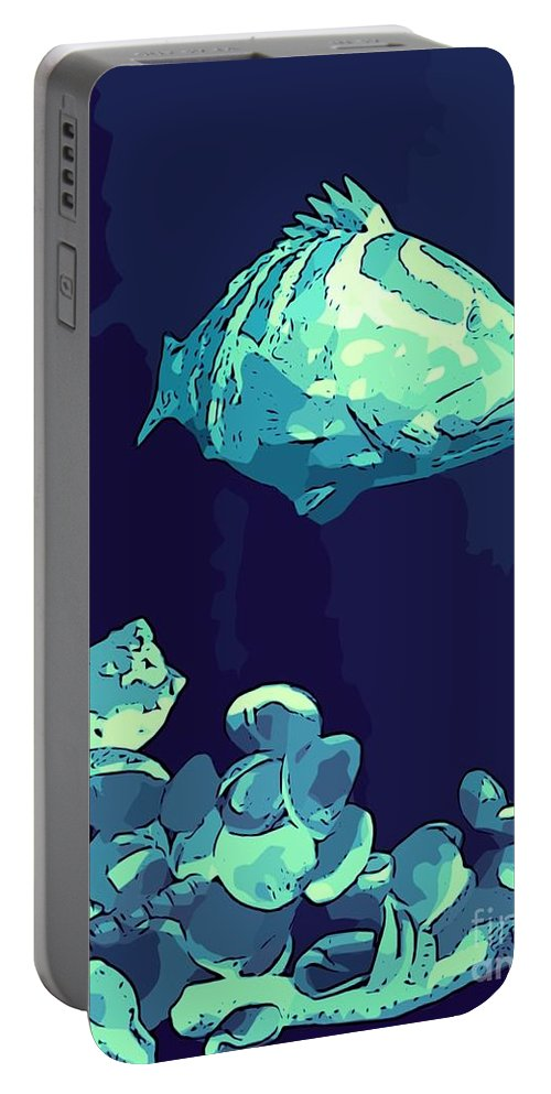 Fish Portable Battery Charger featuring the photograph Blue Grouper by John Malone