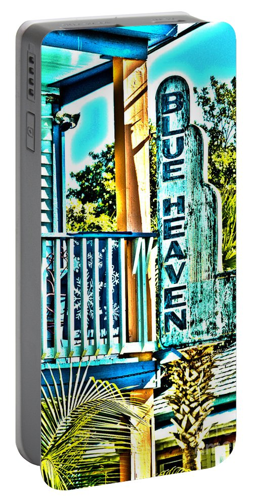 Blue Heaven Portable Battery Charger featuring the photograph Blue Heaven In Key West - 1 by Susanne Van Hulst