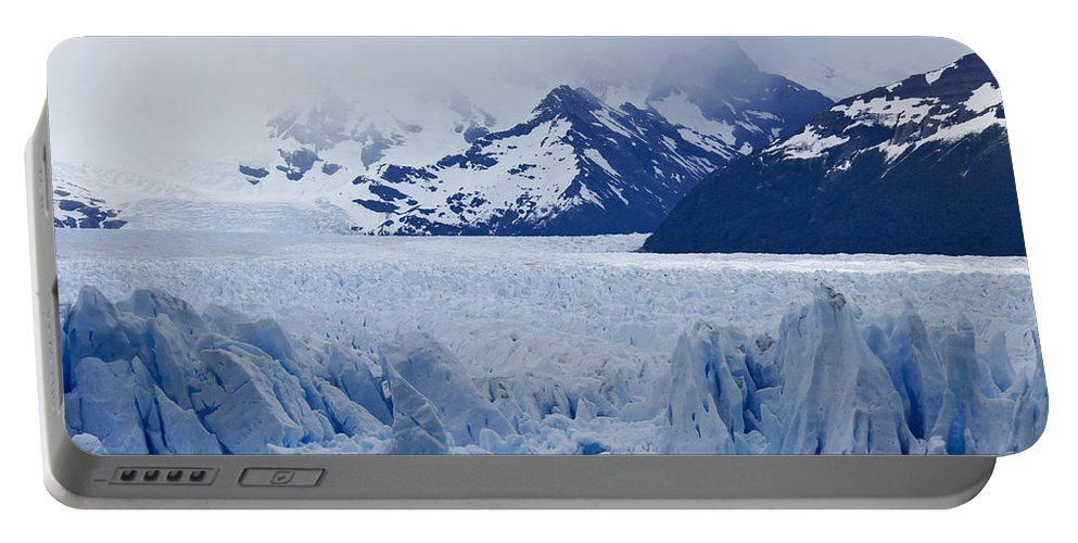 Argentina Portable Battery Charger featuring the photograph Blue Ice by Michele Burgess