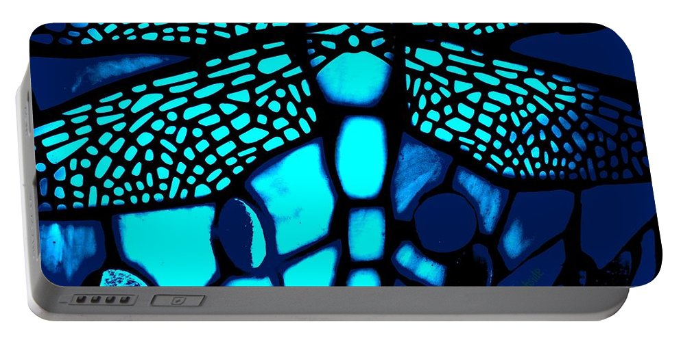 Lamp Portable Battery Charger featuring the photograph Blue Imitation by Chris Berry