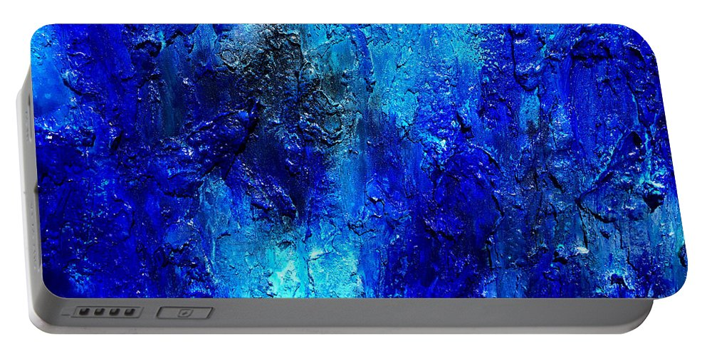 Surreal Prints Portable Battery Charger featuring the painting Blue Lagoon 13 by Henry Parsinia