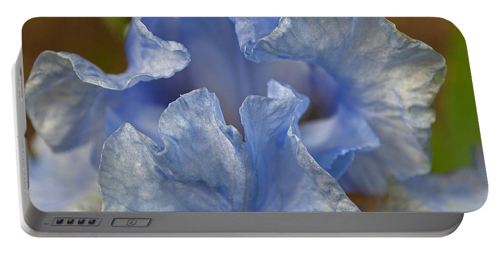 Blue Lilac Iris Portable Battery Charger featuring the photograph Blue Lilac Iris by Tikvah's Hope