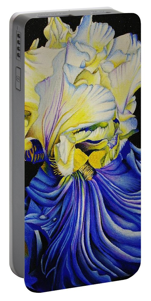 Flora Portable Battery Charger featuring the drawing Blue Magic by Bruce Bley