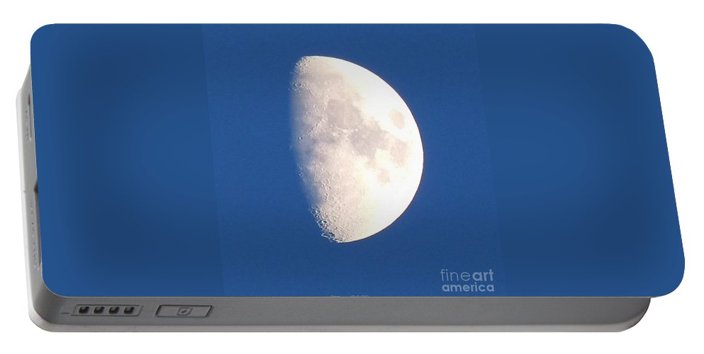 Blue Sky Portable Battery Charger featuring the photograph Blue Moon by Teena Bowers