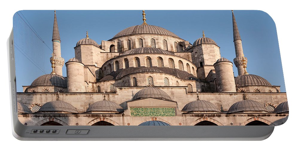 Istanbul Portable Battery Charger featuring the photograph Blue Mosque Domes 01 by Rick Piper Photography