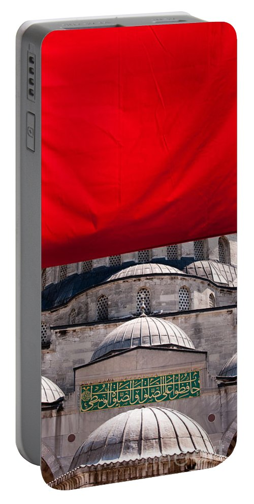 Istanbul Portable Battery Charger featuring the photograph Blue Mosque Domes 04 by Rick Piper Photography