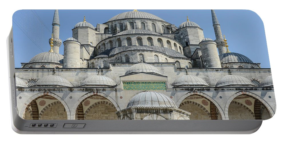 Ancient Portable Battery Charger featuring the photograph Blue Mosque In Istanbul Turkey by Brandon Bourdages