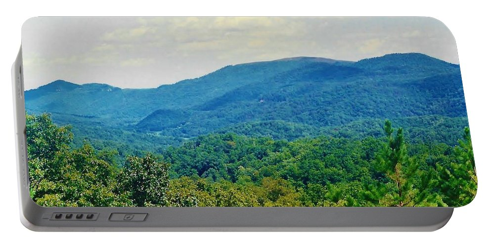 Tree Portable Battery Charger featuring the photograph Blue Mountains by D Hackett