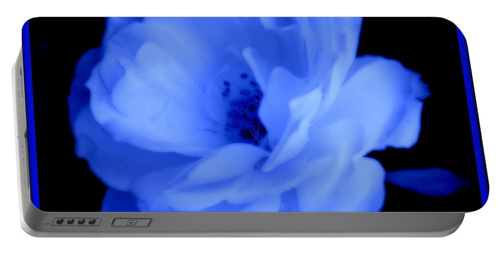 Rose Portable Battery Charger featuring the photograph Blue Perfection by Kathy Sampson