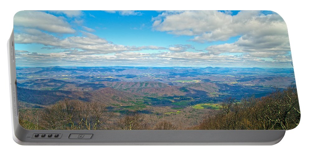 Blue Portable Battery Charger featuring the photograph Blue Ridge Parkway Beautiful View by Betsy Knapp