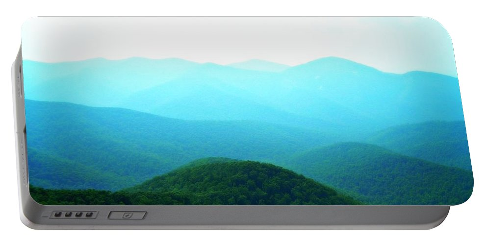Mountains Portable Battery Charger featuring the photograph Blue Ridge Scene by Vicki Dreher