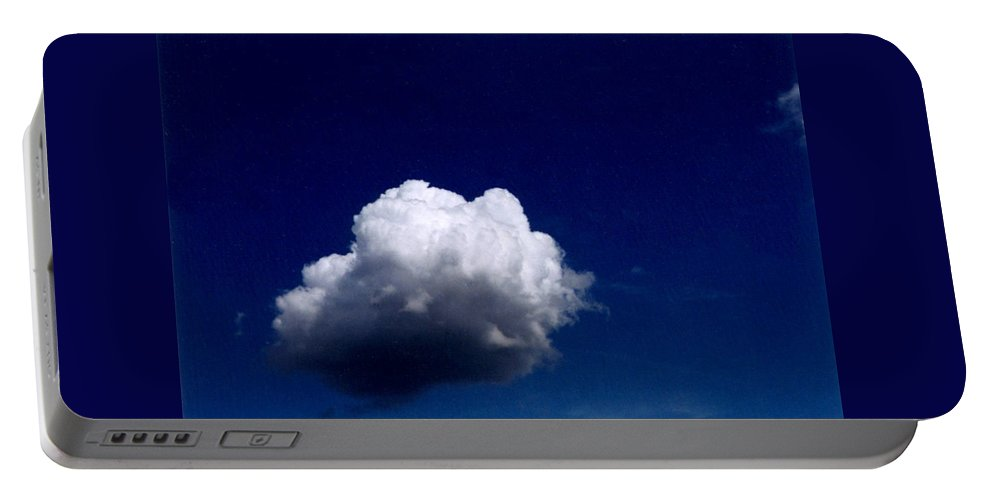 Blue Sky Portable Battery Charger featuring the photograph Blue Sky Cloud by Loren McNamara