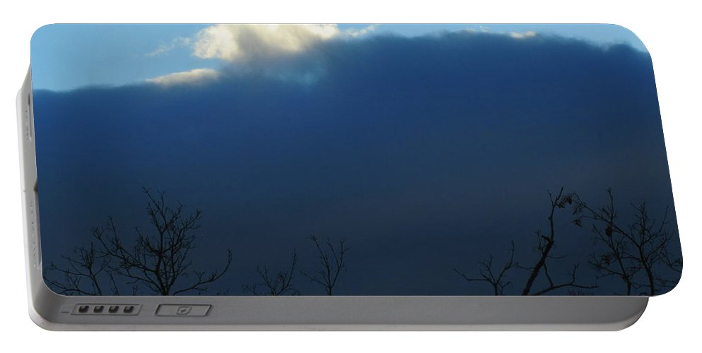 Sky Portable Battery Charger featuring the photograph Blue Wall Clouds 2 by Tara Shalton
